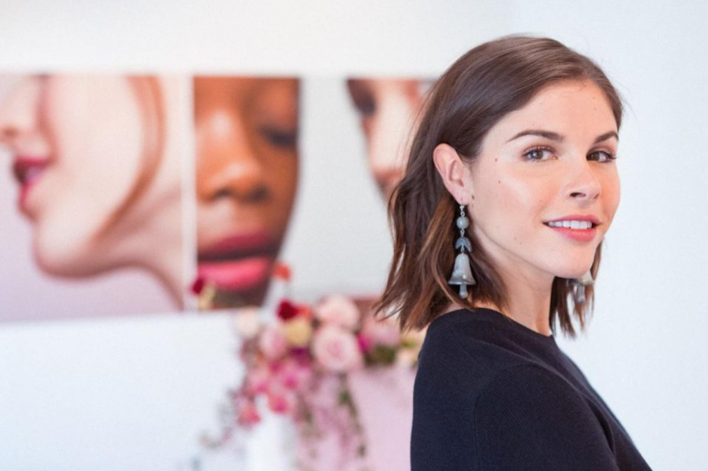 Ollari features image of CEO of glossier as a leading female entrepreneur