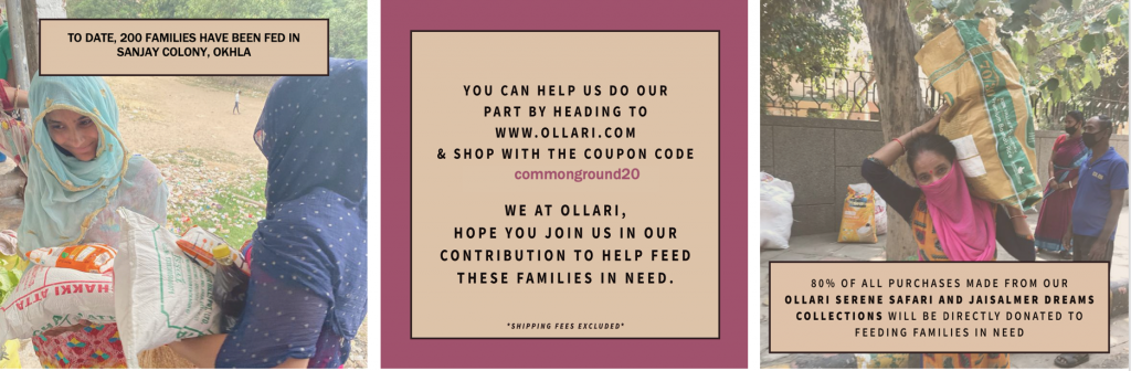 Ollari features image of common ground donation information