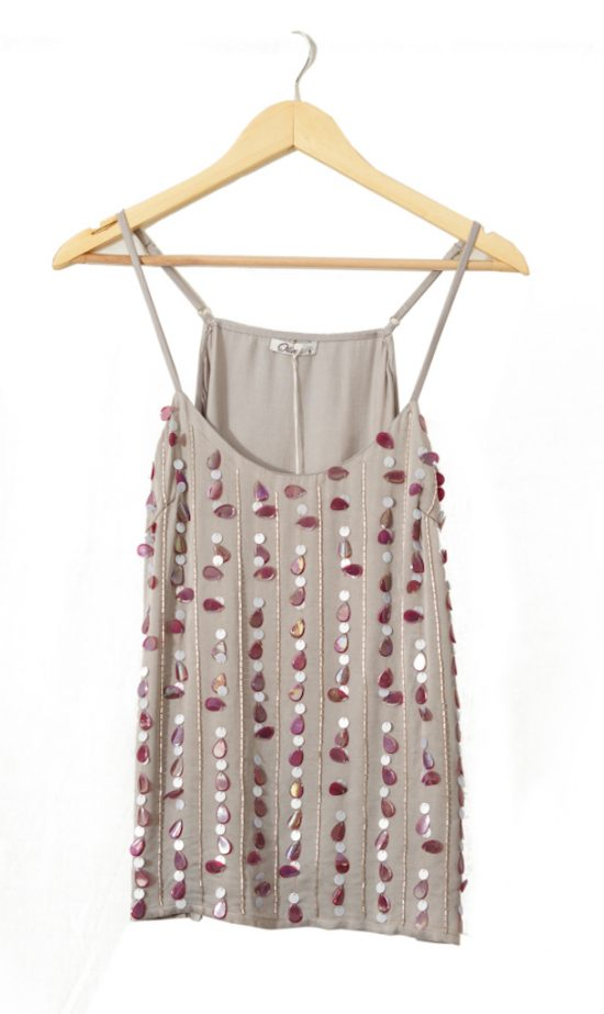 silver cami front
